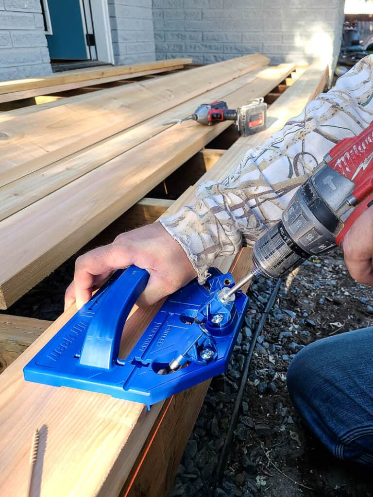 Laying deck boards with the deck jig from Kreg is easy!