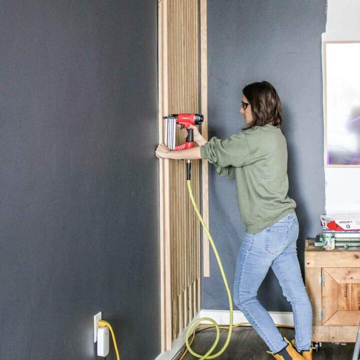 How To Create A DIY Slat Wall