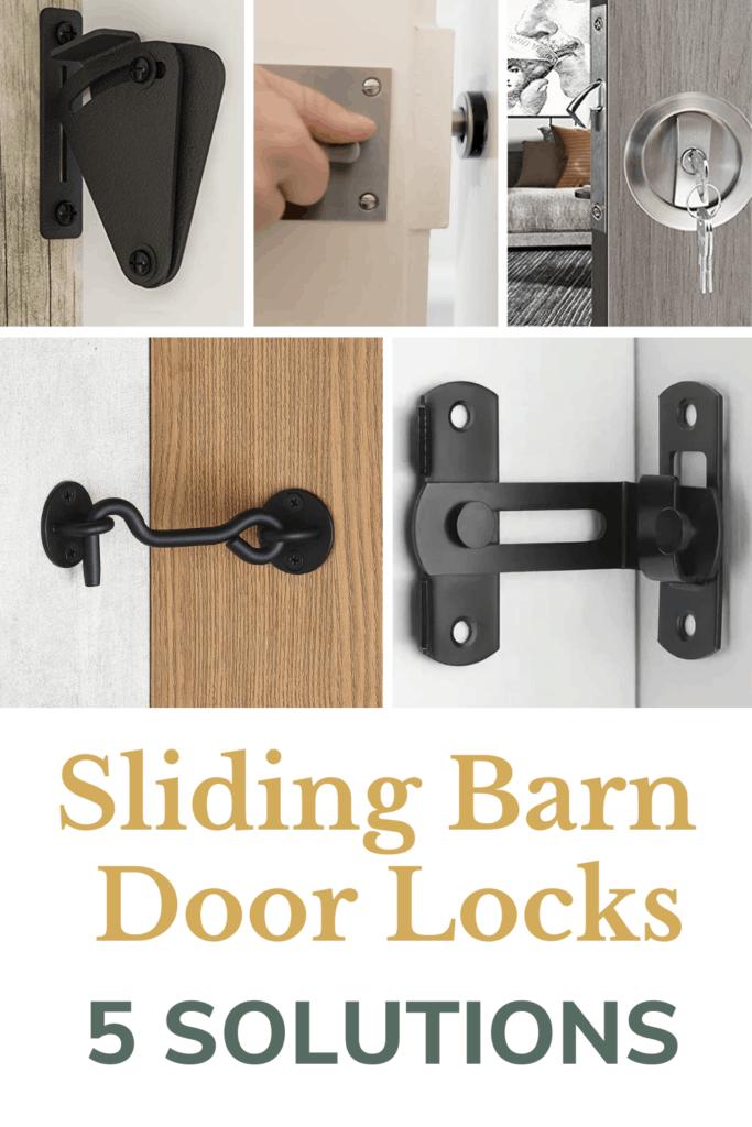 Sliding Barn Door Locks 5 Solutions, Bathroom Sliding Barn Door Lock