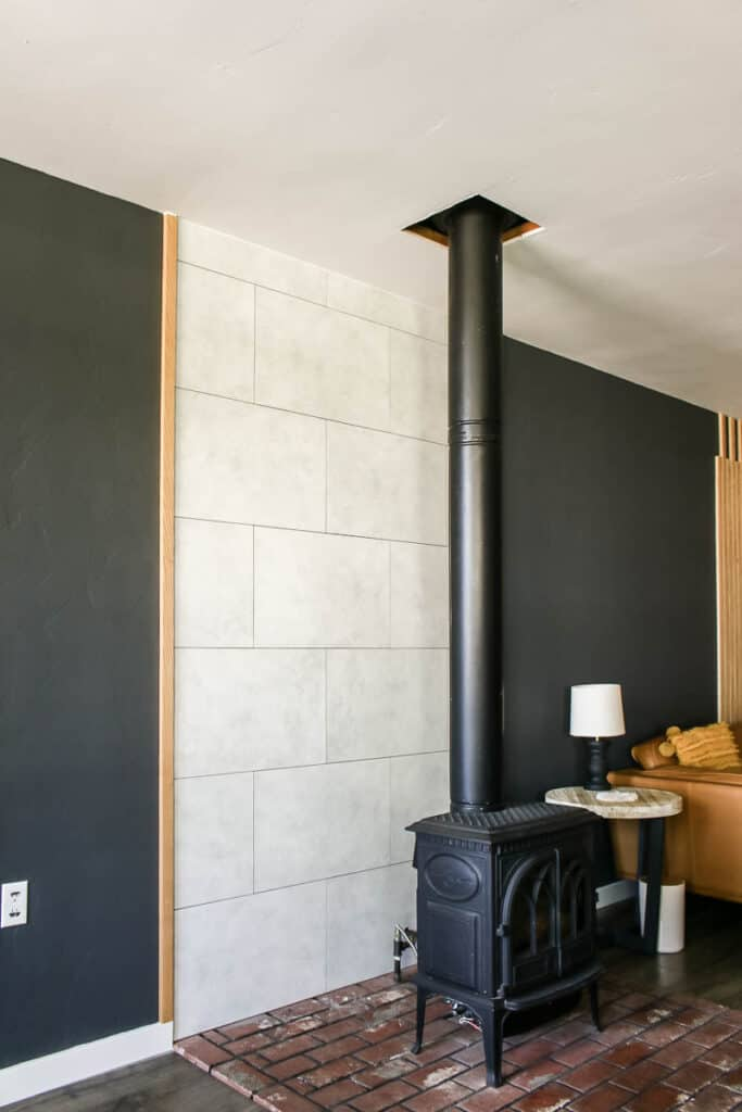 Consider using fake cement wall panels that are easy to install and look great! Get a modern industrial look for less.