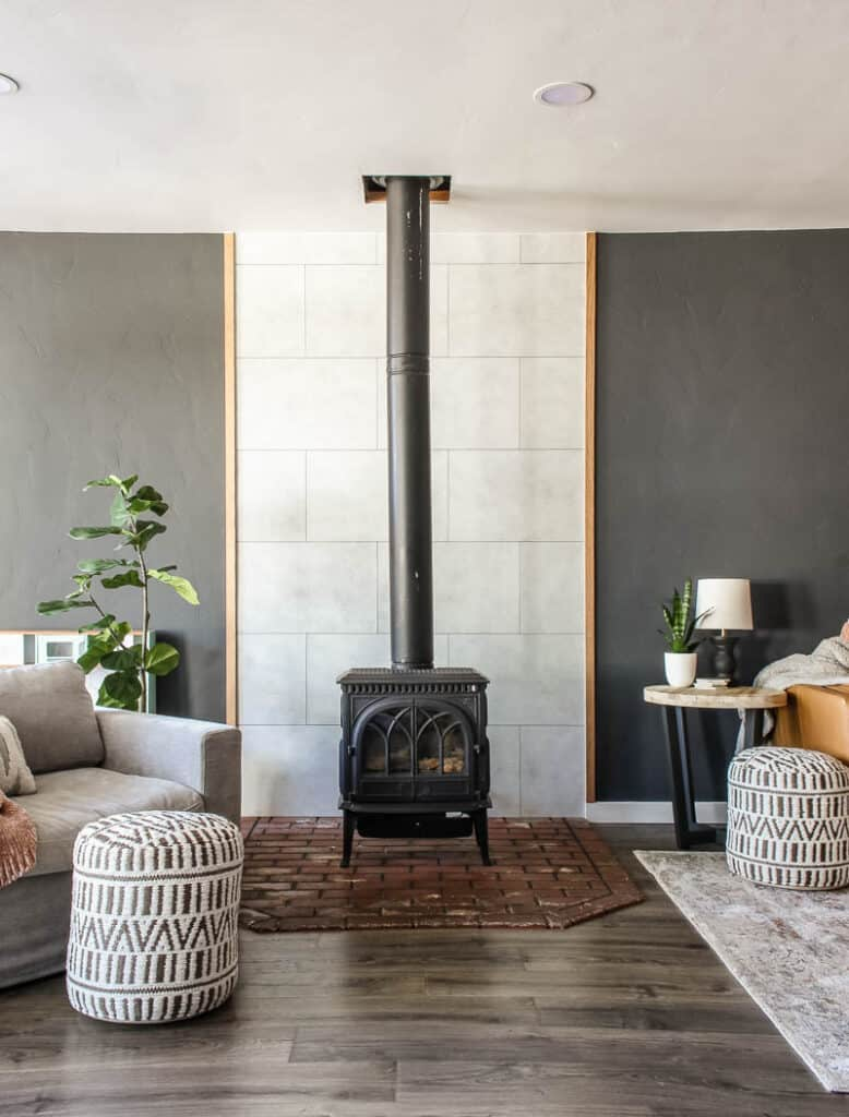 Get a new look to your fireplace or create an accent wall in just a few hours!