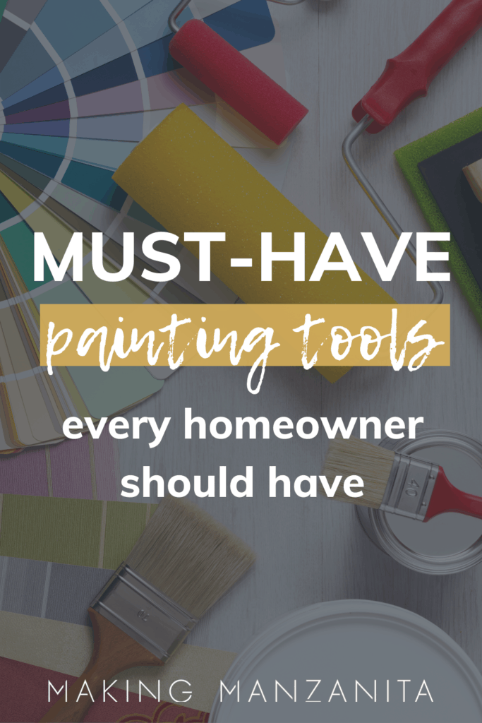 In this painting tools list, we're sharing our favorite tools that we use for painting. We're also explaining why we like each paint supply and what it is used for.
