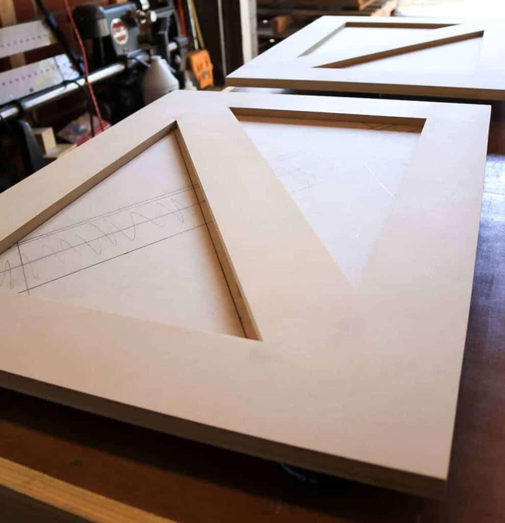 Assembled MDF wood for wood cabinet doors