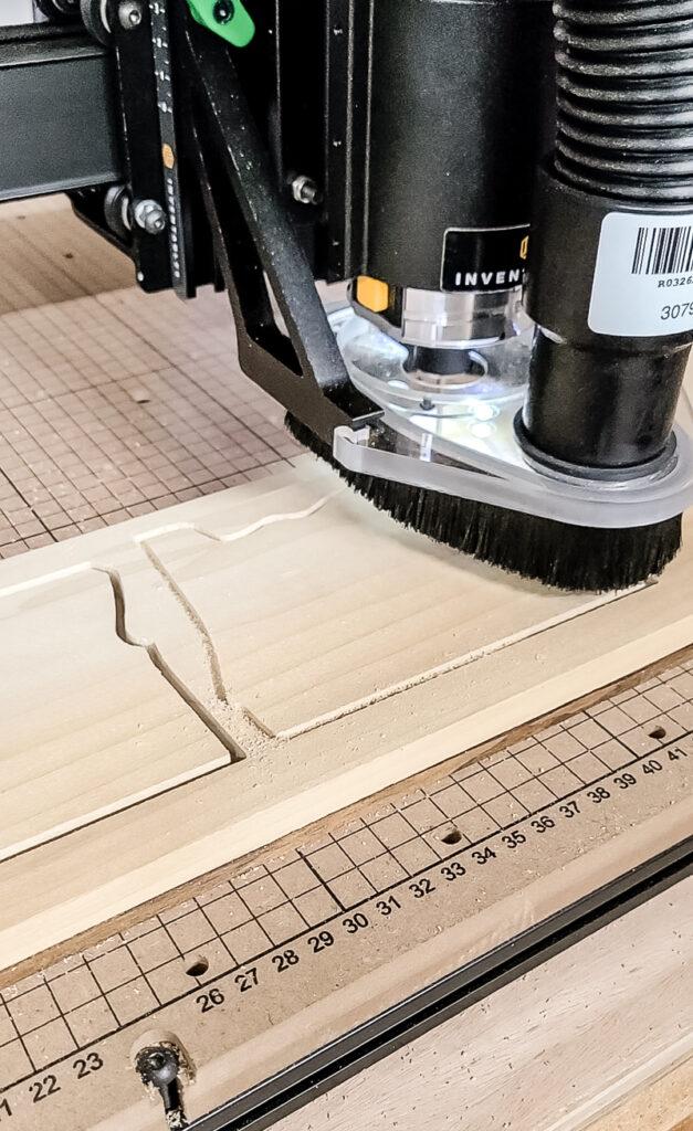 Carving wood using X-Carve CNC machine