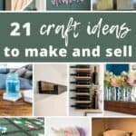 These craft ideas are perfect to bring in some extra money by selling online, like an Etsy shop, or in-person at stores and craft shows