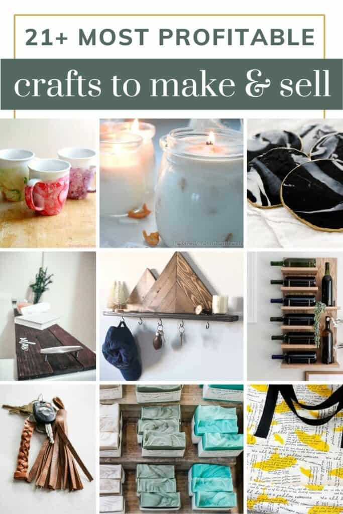 Whether you're selling your crafts online (like Etsy) or in-person at local brick-and-mortar stores or craft fairs and events, there are so many great crafts to sell that actually make money!